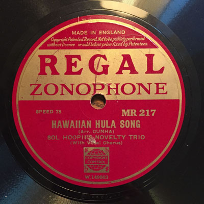 Regal Zonophone MR 217 W 149803